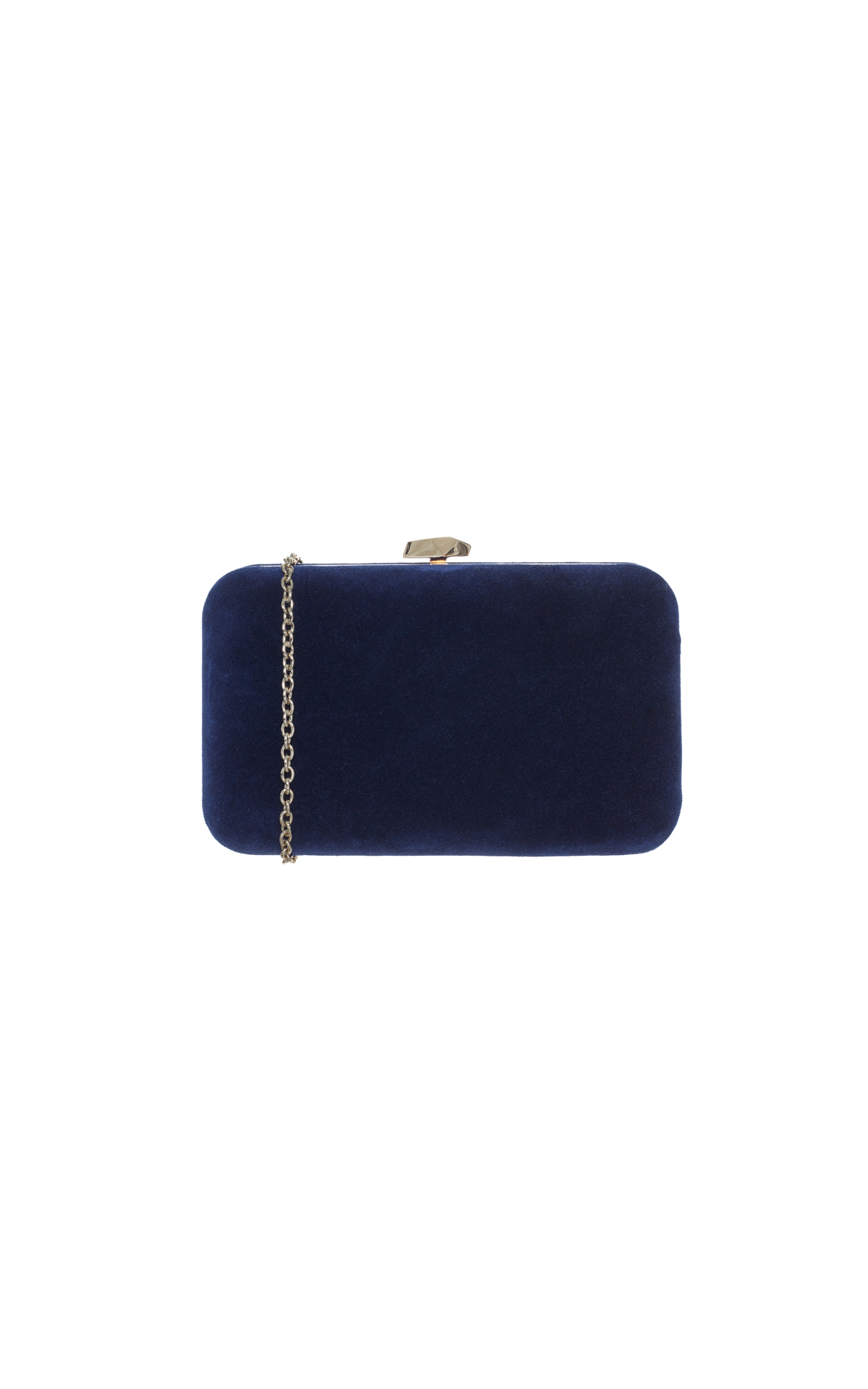 Coccinelle Velvet box clutch navy from Bicester Village