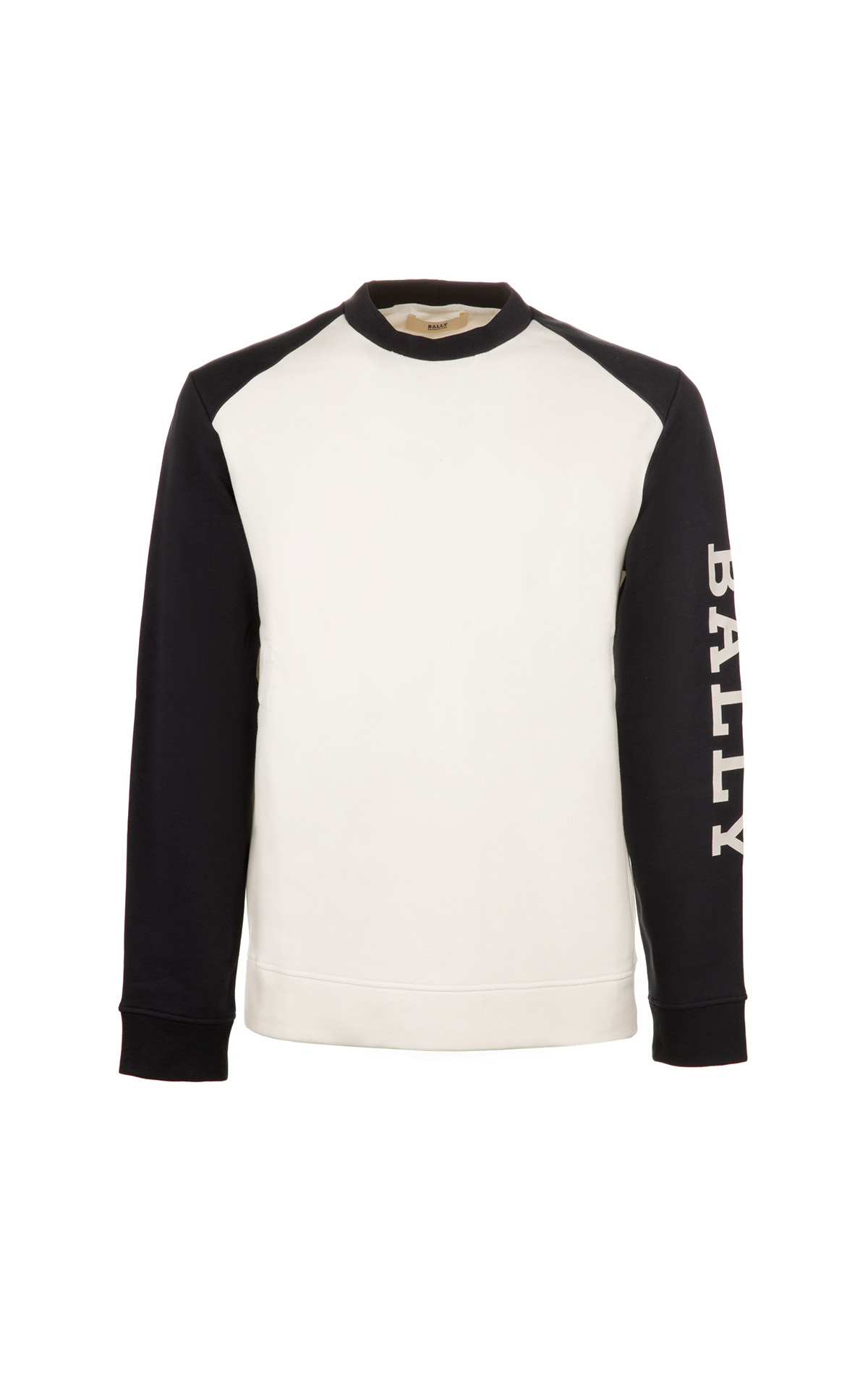 Bally Men's sweatshirt navy blue sleeves from Bicester Village