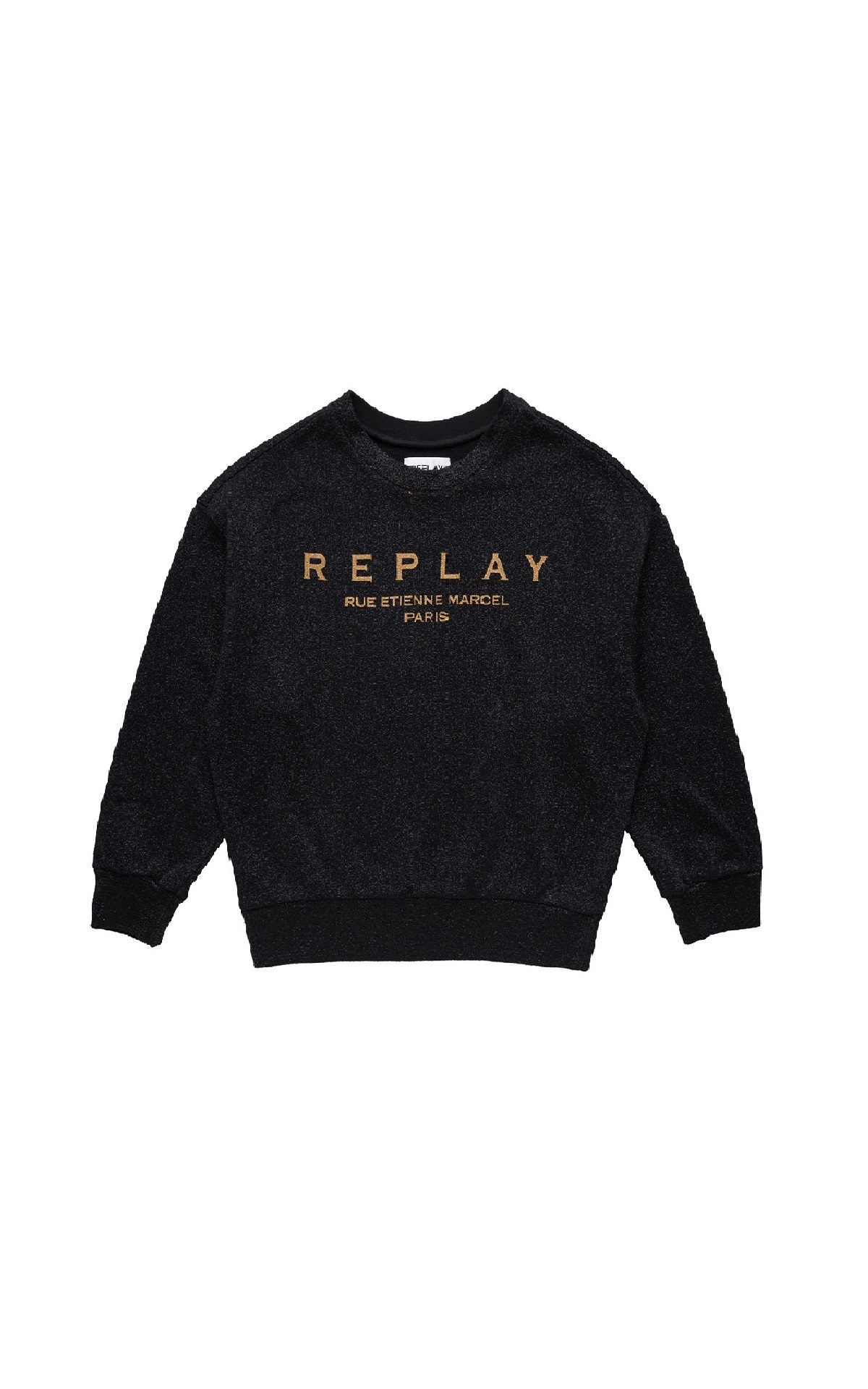 Black sweatshir for woman Replay