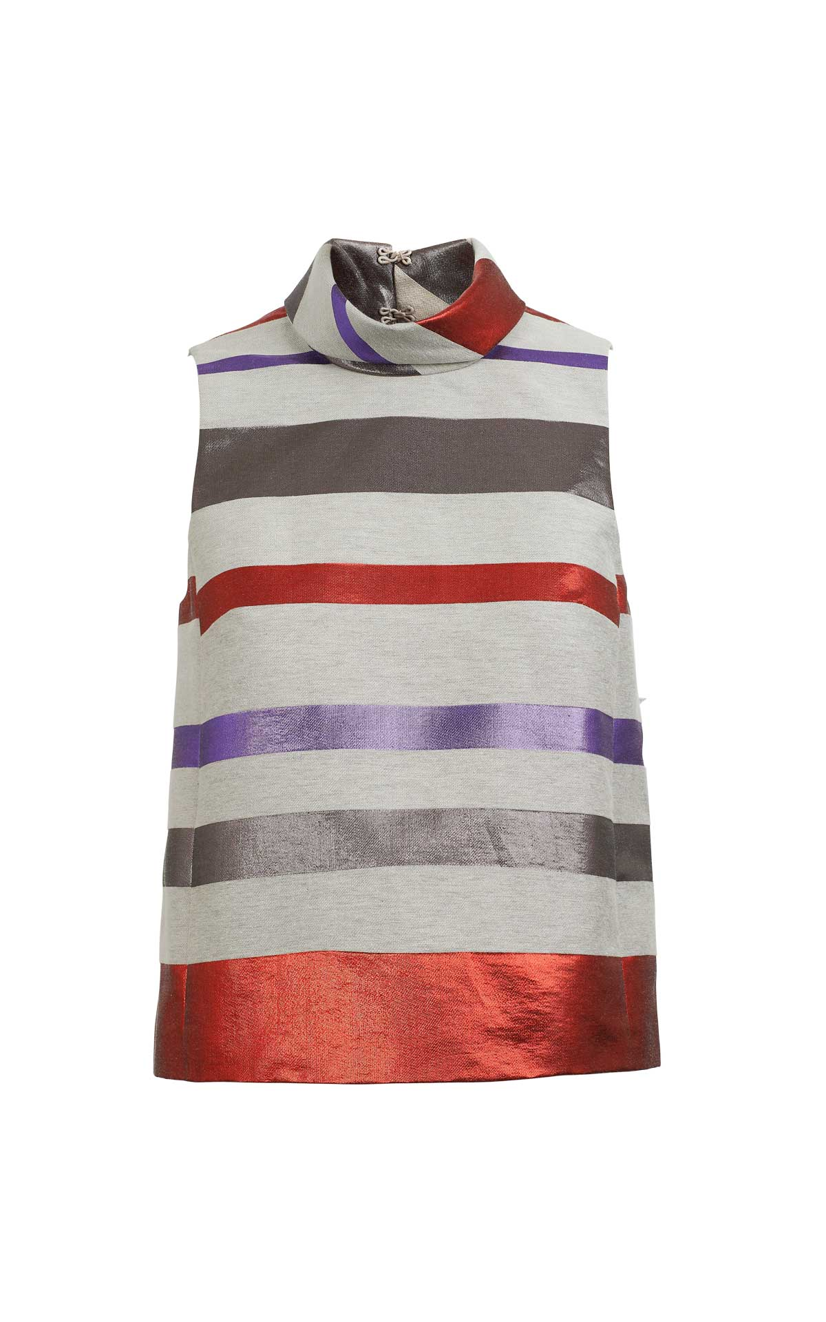 Striped grey purple and red blouse for woman Armani